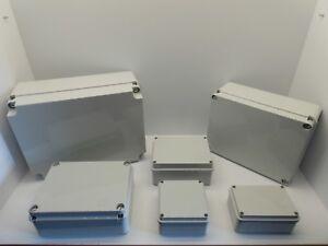 GEWISS GW442 ENCLOSURE JUNCTION BOX ADAPTABLE PVC PLASTIC WATERPROOF IP56 GREY