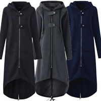 Women Winter Hoodie Sweater Hooded Long Jacket Coat Sweatshirt Tops Outwear
