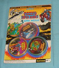 vintage MARVEL SUPERHEROES PUZZLES MOC Ghost Rider Silver Surfer Fantastic Four