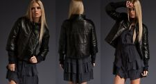 A.L.C. Kelly Quilted Black Black Leather Jacket US size 8 SOLD OUT $1245 NWT