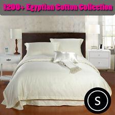 1200TC SOFT Egyptian Cotton Collection Bedding Sheet Set Ivory Single
