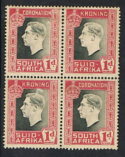 SOUTH AFRICA - 1937 KGV1 CORONATION -  BILINGUAL PAIRS/BLOCK MINT