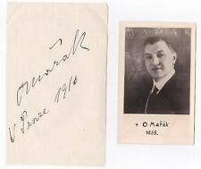 OTAKAR MARAK Opera Tenor signed album leaf and photo