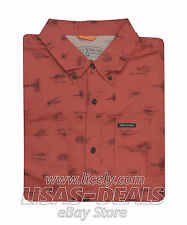 New Mens Original Outfitter Field and Stream Shirt UPF 30 Blue Green M L XL XXL