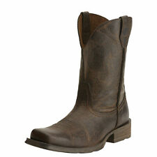 """Ariat 10015307 Rambler Wicker 11"""" Distressed Leather Square Toe Riding Boots"""