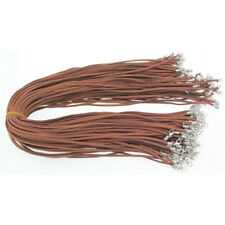 50Pcs Brown Suede Leather Rope Cord Necklace Pendants DIY String Jewellery CA