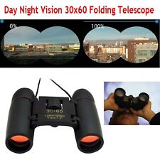 Day Night Vision 30 x 60 Zoom Outdoor Travel Folding Binoculars Focus Telescope