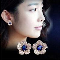 1 Pair Women Rhinestone Water-drop Design Diamante Ear Studs Earrings Jewelry