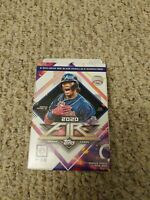 One (1) Topps Fire 2020 MLB Fire Baseball Trading Card Hanger Box - New, Sealed