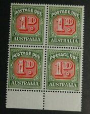 Australia  J87   VF NH OG BLOCK of 4