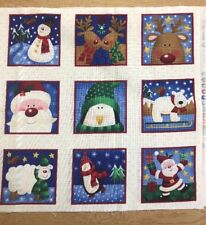 Makower - 087 Novelty Labels - Christmas - Crafts - Cardmaking - 100% Cotton