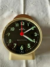 Vintage: Westclox, Ben Quartz Alarm clock.Made in Scotland,battery operated Used