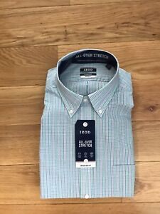 NWT Izod Mens Dress Shirt Size 16-161/2 34-35 Sleeve Lenth