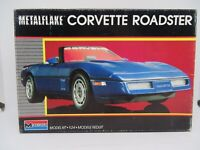 MONOGRAM 1987 METALFLAKE CORVETTE ROADSTER PARTIAL BUILT MODEL 1/25 SC PLAST KIT