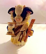"Mary'S Moo Moos 1998 ""Hoofy Moo Year"" Enesco Corp #014Mm973 Millennium Edition"