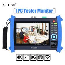 "4K 7"" IPC CCTV Camera Monitor Tester CVBS Test IP Discovery PTZ Control PoE WIFI"