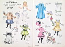 Vintage Pat Stall FATIMA & her Frocks of 1900 Mag. Paper Doll Uncut,1983