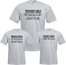 Sibling Rules T-Shirt Funny Brother Sister Siblings Joke Gift Kids Mens Tee