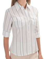 NWT $109 Pendleton Womens Chevron Stripe Button Down Shirt sz 8 PETITE