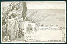 Militari Reggimentali 60º Reggimento Fanteria Brigata Calabria cartolina XF5160