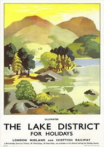 The Lake District For Holidays Illustrated   Vintage Poster   A1, A2, A3