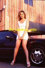 Photo 35mm Slide/Sexy Skinny Woman Sitting On Mercedes Benz Car/nice legs JG247