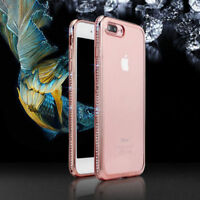 For iPhone X 8 5 6s 7 Plus Luxury Bling Glitter Soft Diamond Rubber Case Cover