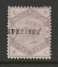 Great Britain 1883 3d Lilac opt. 'SPECIMEN' SG 191s Mint.