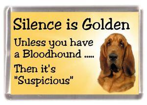 "Bloodhound Dog Fridge Magnet ""Silence is Golden ....."" by Starprint"