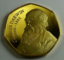 Superb CHARLES DARWIN 24ct Gold Commemorative. Albums/Collectors. Evolution