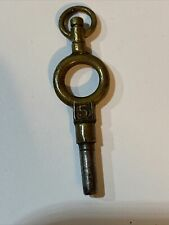 Key In Good Condition Size 5 Antique Vintage Victorian Brass Pocket Watch