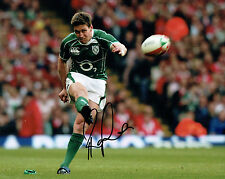 Ronan O'GARA Signed Autograph 10x8 Photo AFTAL COA Ireland Rugby Union