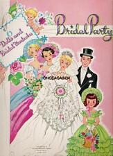 Vintage Uncut 1955 Bridal Party Paper Dolls~#1 Reproduction~Nostalgic/Pr etty!