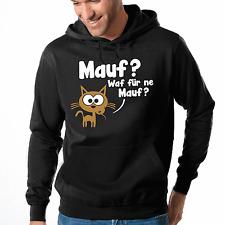 Mauf ? Waf für ne Mauf ? Maus Katze Fun Cartoon Kapuzenpullover Hoodie Sweater