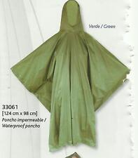 PONCHO IMPERMEABLE VERDE MILITAR PVC- TALLA UNIVERSAL (-AIRSOFT-CAZA)