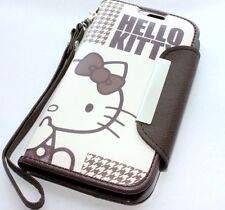 For Samsung Galaxy S4 - BROWN HELLO KITTY LEATHER WALLET POUCH CASE COVER