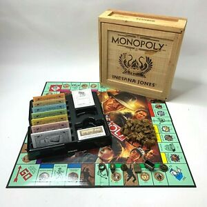 Indiana Jones Monopoly Collector's Limited Edition Wooden Crate