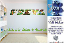 Tinkerbell Pared Adhesivo con cualquier nombre que te gustan los niños Dormitorio Pared Calcomanía Mural