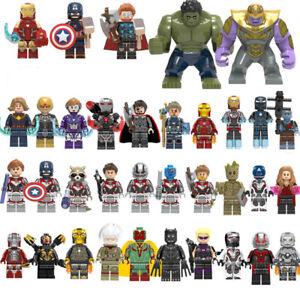 Marvel Avengers DC Super Heroes Minifigures Thanos Hulk Batman Blocks Toy