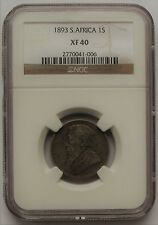 1893 1 Shilling Paul Kruger pre Boer War ZAR coin from South Africa