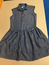Blue Chambray Dress Sleeveless Size S