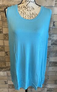 Lularoe Rise Strong Relaxed Workout Tank XL Extra Large Beautiful Solid Blue