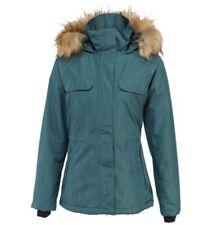 Merrell XL Extra Large Green Teal Bandol Parka Jacket Coat Faux Fur Hood