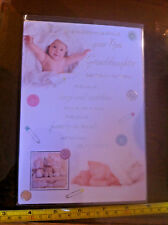 Congratulations On The Birth Of Your New Granddaughter Card & Envelope New