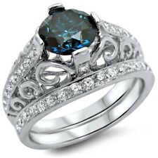 Chic 925 Silver Blue Topaz Gemstone Ring Wedding Proposal Women Jewelry Size 7