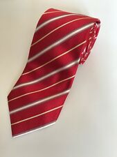 Krawatte LORENZO CANA rot-gold-gestreift | tie / cravat LORENZO CANA red-gold
