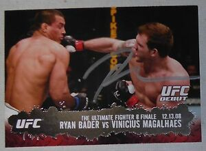 Ryan Bader Signed 2009 UFC Topps Rookie Debut Card 119 RC Autograph TUF 8 Finale