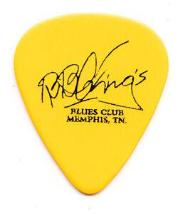 B.B. King Signature Memphis Blues Club Yellow Guitar Pick