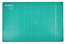 Amtech A1 A2 A3 A4 OR A5 Self Healing Grid Cutting Mat & Rotary Cutter 45mm