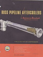 VINTAGE CATALOG #2806 - 1959 ROSS PIPELINE AFTERCOOLERS - AMERICAN STANDARD